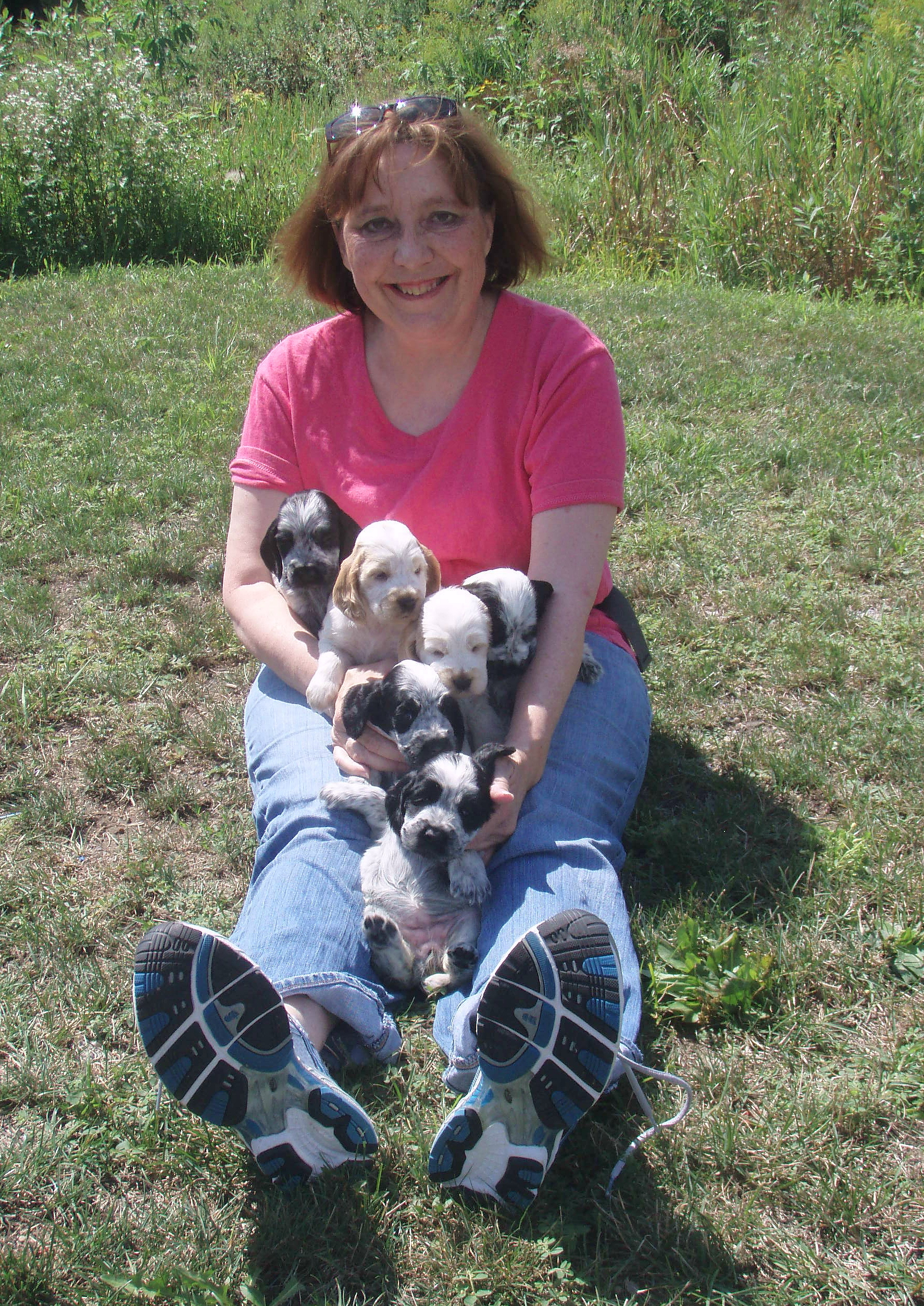 Sue and the Packer litter--one of those babies became Sue's Layla