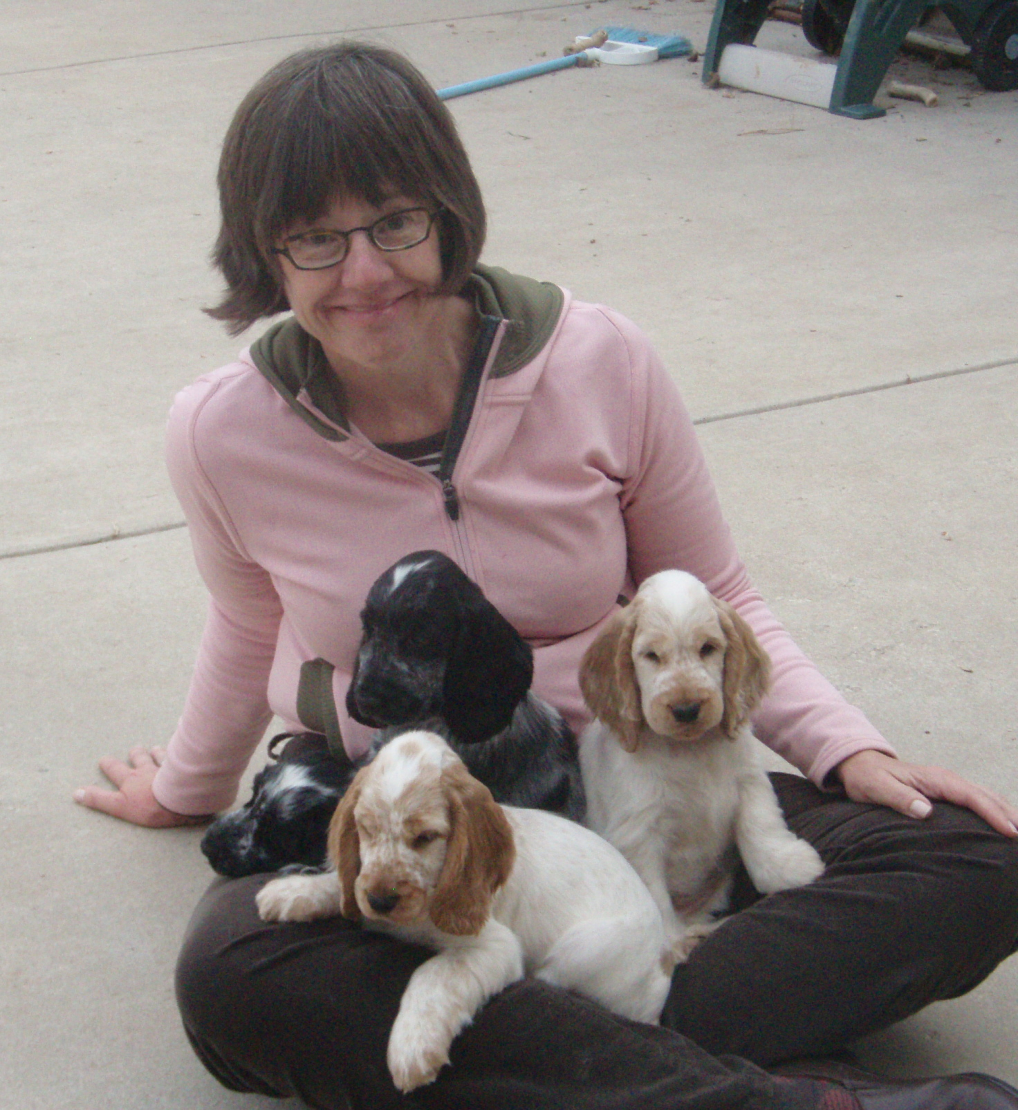 Susan and the Packer litter--one of the babies became Wyatt